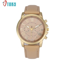 Excellent Quality New Women Leather Bracelet Watch Gold Case Quartz Watch Laides Casual Cute Cat Wrist Watch Mujer Montre Mar 14