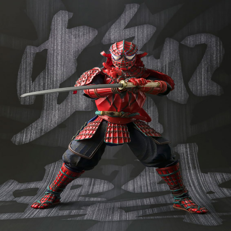 MANGA REALIZATION Samurai Spider-Man Spiderman PVC Action Figure Collectible Model Toys 17cm KT3339<br><br>Aliexpress