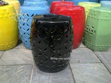 Jingdezhen Black Painted Ceramic End Table Stool