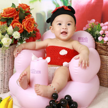 2016 New Inflatable Widened Thickened Pink Love Modeling Inflatable Baby  Stool Sofa Chairs Feeding chair