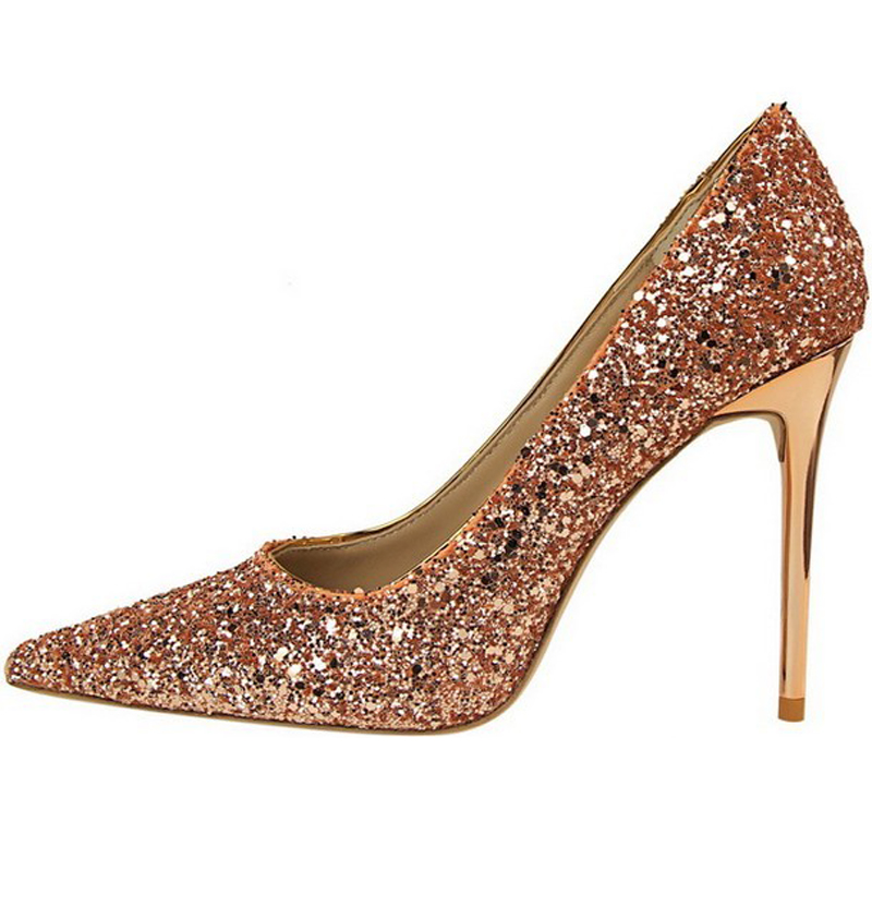 Champagne White Red Blue Gold Silver Black Multi Color Glitter Bling Bling Sequined Wedding Shoes Women Stiletto Pumps High Heel<br><br>Aliexpress