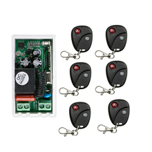 AC 220V 1 CH RF Wireless Remote Control Switch 1 receiver+6 transmitter Simple connection home appliances/lamp(China)
