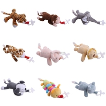 Buy Baby Boy Girl Dummy Pacifier Chain Clip Plush Animal Toys Soother Nipples Holder -B116
