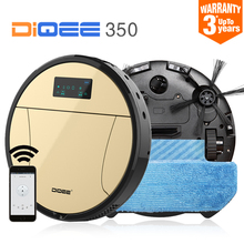 2017 Smart Robot Vacuum Cleaner for Home cyclone Sweeping Dust Sterilize Gyro navigation Planned Water Tank mop Filter DIQEE 350
