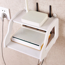 Router Holder Storage Rack DIY Multifunction Phone Router Storage Box Wall Decoration Accessories(China)