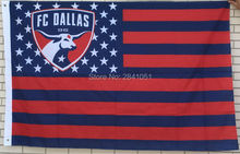 FC Dallas Stars and Stripes MLS Nation American Outdoor Indoor Hockey Baseball College Flag 3X5 Custom USA Any Team Flag