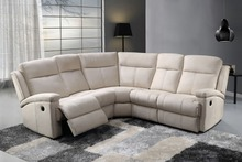 Top selling Wholesale living room European style sectional sofa with manual recliners YB620(China)