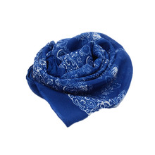 160*60cm  Big Size High quality Scarf Blue and White Porcelain Folk Style Thin Section the Silk Floss Women Scarves Shawl Marcas