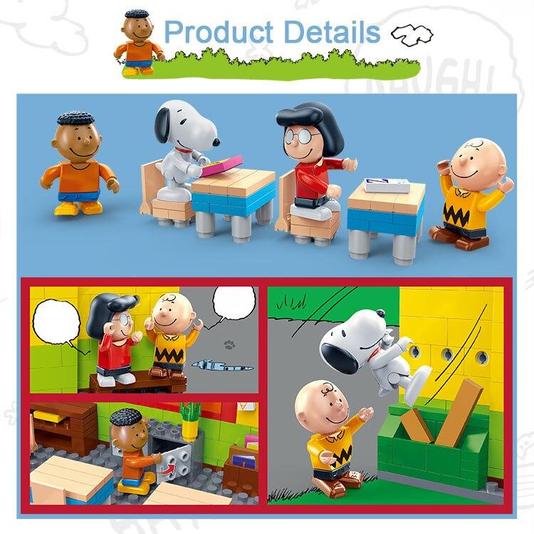 BanBao 7501 Snoopy Classroom Plastic Building Block 27
