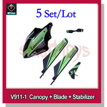 WLtoys V911 Parts kit Canopy Main Tail Blade Balance Stabilizer for V911-1 Helicopter Spare Parts
