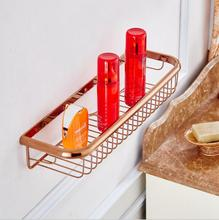 New Arrivals Antique Rose Gold 45 cm length square Soap Holder bathroom shelves bathroom shampoo holder bathroom basket  holder