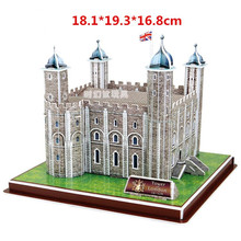 Educational toy 1pc CubicFun The tower of London England 3D paper DIY jigsaw puzzle famous model building kits children gift toy(China)