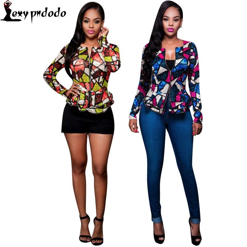 Suit Jacket Women Coat Flowers Blazers And Jackets 2016 Fashion Autumn Womens Fitted Blazer feminino Plus Size Woman Clothing PN