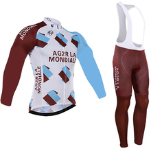 2017 Pro Team ag2r Cycling Jersey Ropa Ciclismo bike Sports Jersey Cycling Clothing cycle clothes pro Sets with 19D gel pad