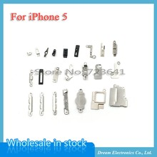 MXHOBIC 5sets/lot Inner Accessories Inside Small Metal Parts 21Pcs for iPhone 5 Holder Bracket Shield Plate Set Kit(China)
