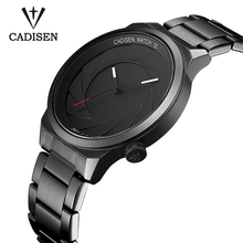 2017 New Creative Camera shutter Style Cadisen Top Brand Luxury Men Casual Quartz Watch Men Business Waterproof relogio clock(China)