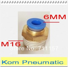 Male Pneumatic 6mm Tube M16 Thread Quick Coupling Fitting Connector Free Shipping
