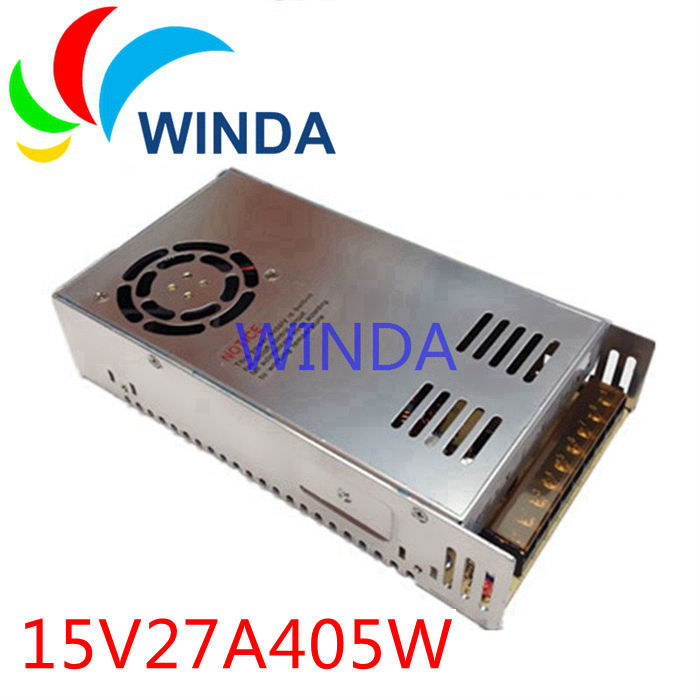 Power supply voltage transformer 15V 27A AC 110V 220V built-in cooling DC fan security video camera driver<br>