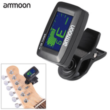ammoon AT-02 Electric Tuner Clip-on Three Colors Backlit Screen for Guitar Chromatic Bass Ukulele Universal Portable