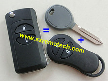 New Key Shell for Jeep Grand Cherokee For Chrysler PT Cruiser Voyager Conversion Flip Remote Key FOB with blank blade