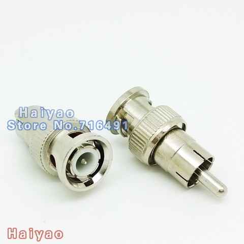 100PCS BNC Male to RCA male Coax Cable Connector Adapter F/M Coupler for CCTV Camera bnc cable connector accessories<br><br>Aliexpress