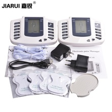 JIARUI Electrical Muscle Stimulator Full Body Relax Therapy Massager Pulse Tens Acupuncture Health Care Slimming Machine+8pads(China)