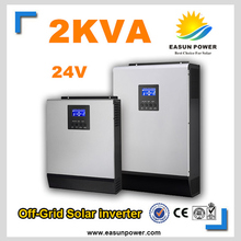 Promotion Solar Inverter 2Kva 1600W Off Grid Inverter 24V to 220V 25A MPPT Inverters Pure Sine Wave Inverter 30A AC Charger