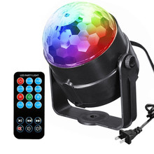 Mini RGB LED Crystal Magic Ball Stage Effect Lighting Lamp Party Disco Club DJ Bar Light Show with Remote Control