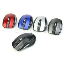 1Pc Mouse Portable 2.4Ghz Wireless Optical Gaming Mouse Gamer Mice For PC Laptop Computer Pro Gamer Minimum Price 5-Color C26(China)