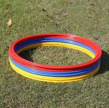 6/8/10/12 Pcs Set 40cm Soccer Speed Agility Rings ABS Material Sensitive Football Equipment Training Pace Lap Football Training