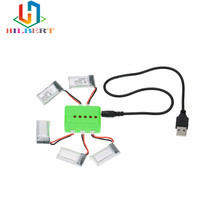 Hilbert X5 Charger And 5pcs 3.7V 260mAh Lipo Battery Upgraded For JJRC Eachine H8 Mini RC Quadcopter Drone Parts