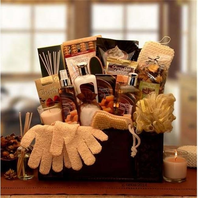 Gift Basket Drop Shipping 8413592 Caramel Spa Treasures Gift Chest
