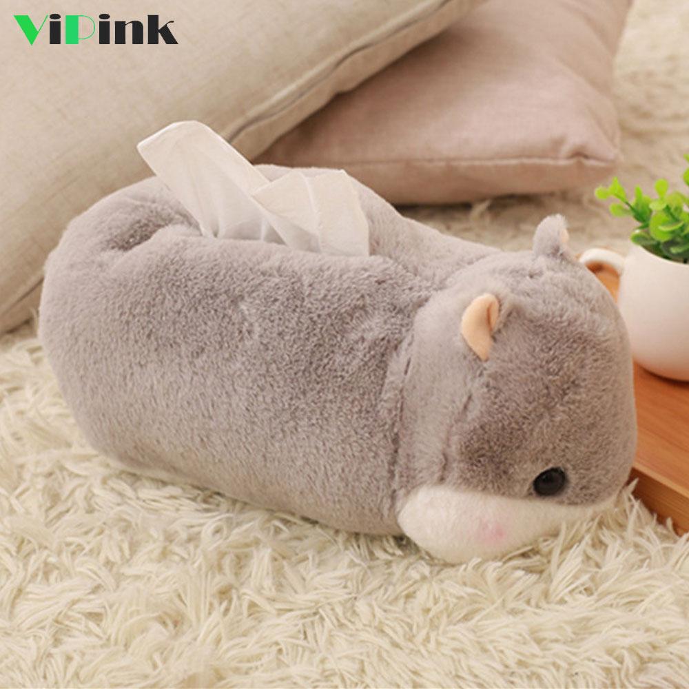 Tissue Box Holder Animal Cat Dog Paper Towel Box Novelty Car Tissue Holder