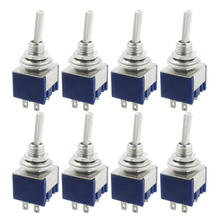 Professional Toggle Switches For DIY Electrical Equipment 10 Pcs AC 125V 6A Amps ON/ON 2 Position DPDT Toggle Switch AA