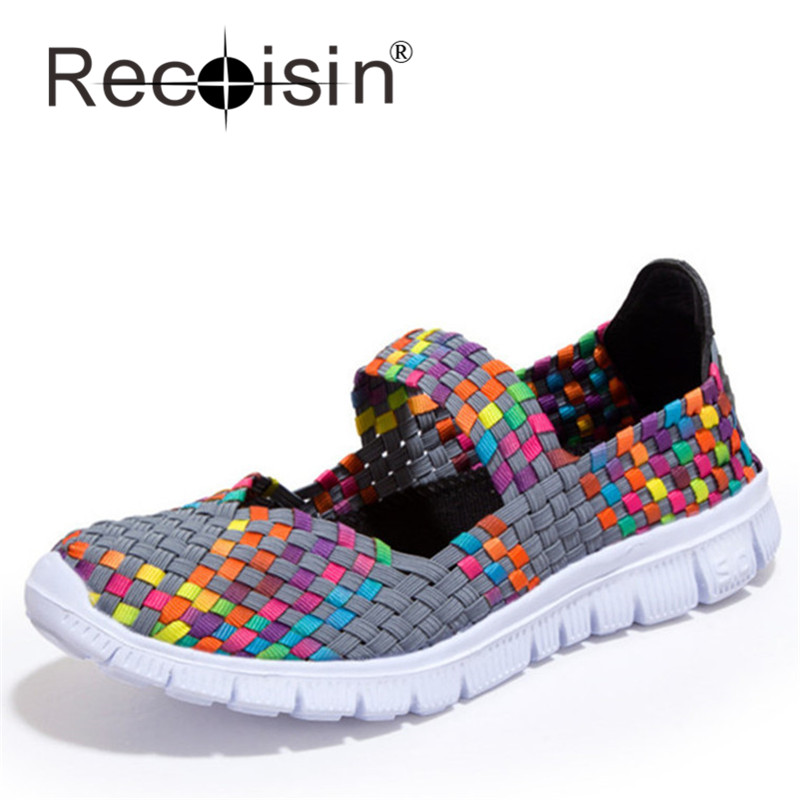 Shallow Mouth Weaves Shoes Women Summer Cool Shoes Footwear For Women Lady Chaussure Femme Zapatillas Mujer Walking Shoes 588<br><br>Aliexpress