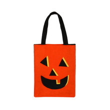 Awesome and Creative Design Bag Yellow Pumpkin Candy Handbag Cartoon Shape Bucket for Halloween Party#20(China)