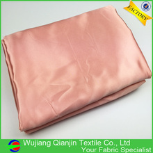 Worth buying fashion design best shiny smooth peach color satin fabric