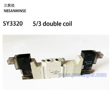 SY3320 Series Close center Solenoid Valve M5 AC220V High quality Ningbo Sanmin (NBSANMINSE) Mini Valve  SMC Solenoid Valve