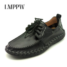 Handmade Men Flats Shoes Luxury Brand Business Casual Men's Shoes Breathable Loafers Genuine Leather Fashion Shoes Moccasins 8