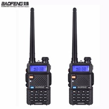 NEW 2 pcs Baofeng uv-5r ham Radio headsets Walkie Talkie 10 km For Two Way radio Station Dual Band Vhf Uhf Mobile uv5r CB amador(China)