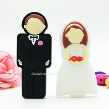 Full capacity flash pen drive Valentine's day wedding gift usb flash drive2.0 bride and groom flash card 16gb 32gb 8gb usb stick