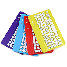 Computers Peripherals Ultra Slim Multimedia Aluminum Alloy Wireless Bluetooth Keyboard for Windows IOS Android Tablet PC iPad