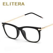 ELITERA High Quality 2017 New Women's Optical Glasses Frame Women Eyeglasses Frames Eyewear Square classic Frame Oulos De sol(China)