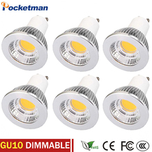 15W 10W 7W 5w 3W GU10 COB LED Bulb 220V Led Spot Light GU10 Spotlight Bulb Lamp Gu10 Led Dimmable Super Bright AC85v-265v 6pcs