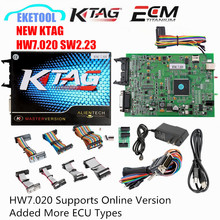 Online Version NEW KTAG 7.020 SW2.23 Added More 140 ECU Types KESS V5.017 KESS 5.017 SW2.23 V2 Fully Protocols No Token Limited(China)