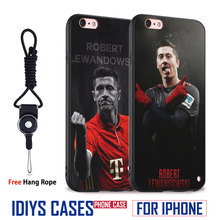 Robert Lewandowski Football Player With Hang Rope Soft Silicone Phone Case Cover Shell Bag For Apple iPhone 5 SE 5S 6 6S 7 PLUS