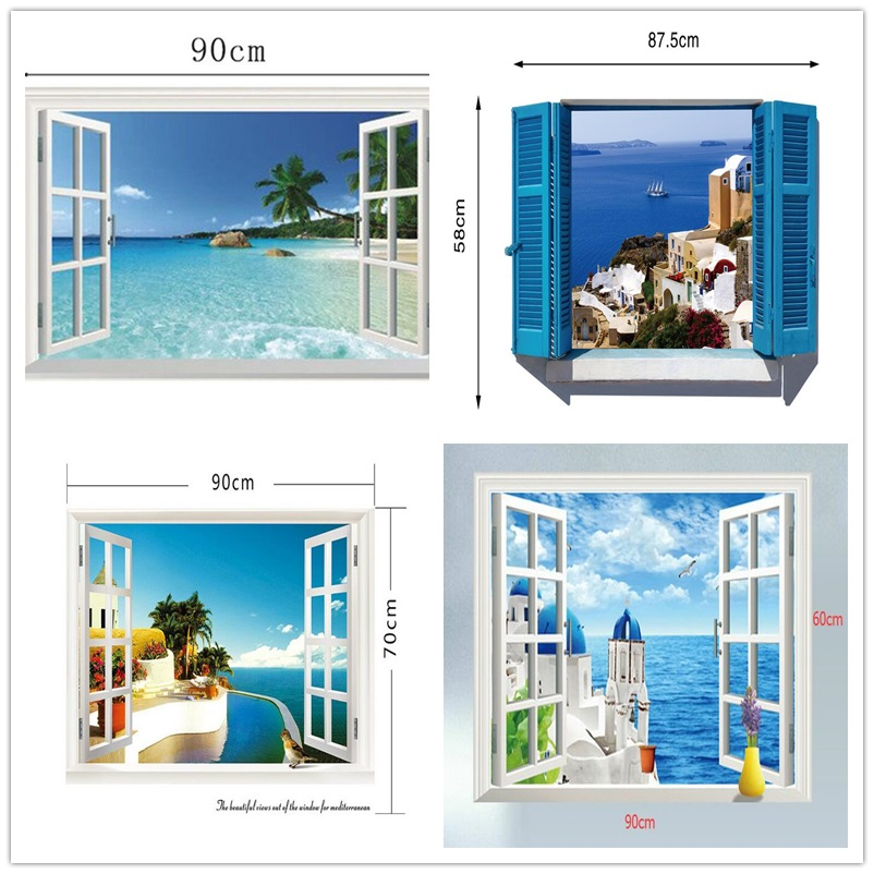 3D removable beach wall decor