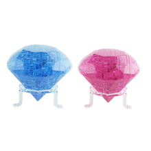 New 2 Colors 3D Puzzle Crystal Diamond Shaped Model Puzzle Kids Toys DIY Crystal Puzzle Toys