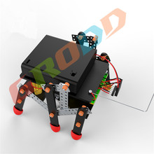 new remote control dual-drive six-robot  science popular assembly model diy technology production of children's toy car gifts