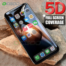 OICGOO 5D Full Cover Tempered Glass For iphone 8 7 6 Plus X 9H Accessories Screen Protector Film For iphone X 10 8 7 6 6s Glass(China)